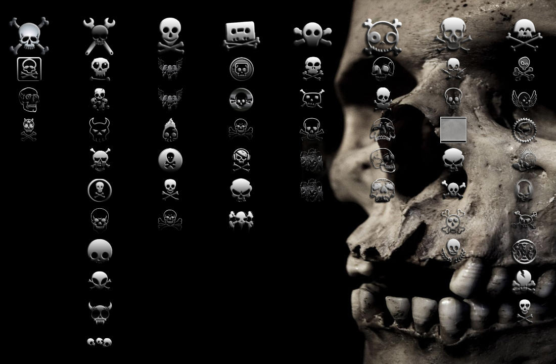 Black jelly ps3 theme by yorksensation on deviantart skull n crossbones ps3 theme by yorksensation voltagebd Image collections