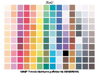 Touch marker palette for GIMP by dfmurcia