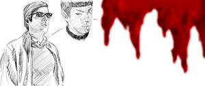 Sylar and Spock sketch + blood