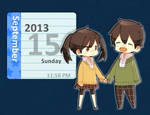 Rainmeter: Takane X Haruka Calendar