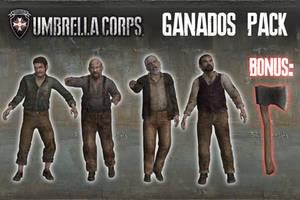 Umbrella Corps - Ganados Pack [XPS Models] by 972oTeV