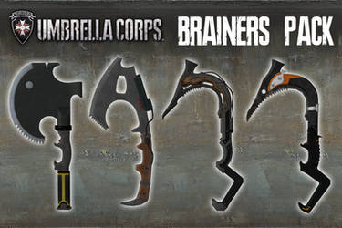 Umbrella Corps - Brainers Pack [XPS Models] by 972oTeV