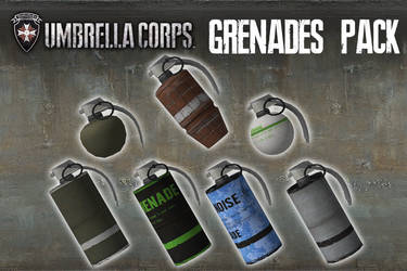 Umbrella Corps - Grenades Pack [XPS Models] by 972oTeV