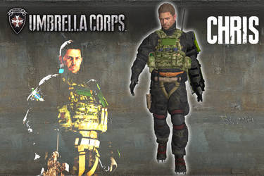 Umbrella Corps - Chris Redfield [XPS model] by 972oTeV