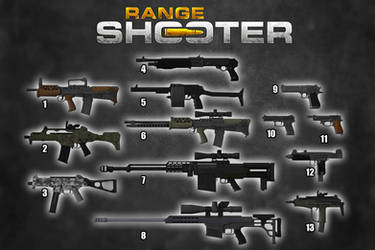 Range Shooter - Guns Pack [XPS Models] by 972oTeV
