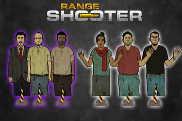 Range Shooter - Hostages Targets Pack [XPS Models] by 972oTeV