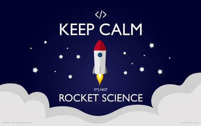 Keep Calm - It's not rocket science [Wallpaper Pac