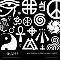 Misc Symbol Shapes by Bloody-Goodbyes