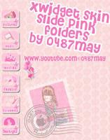 slide pink folders, Xwidget skin by may0487