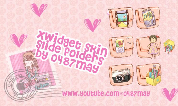 slide folders, Xwidget skin by may0487
