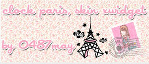 Reloj Paris, skin xwidget by may0487