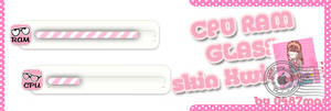 CPU, RAM pink, Xwidget Skin by may0487