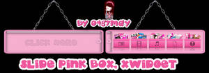 Slide Pink Box Xwidget skin by may0487