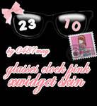 Glasses Clok, Xwidget skin