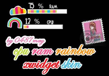 CPU RAM Rainbow Xwidget Skin by may0487