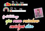 CPU RAM Rainbow Xwidget Skin