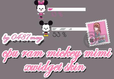 CPU, RAM, mickey, minnie mouse Xwidget by may0487
