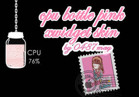 CPU, RAM pink Xwidget Skin by may0487
