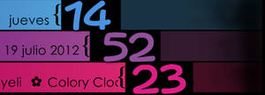 3 Colors Clock, Date Xwidget skin by may0487