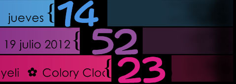 3 Colors Clock, Date Xwidget skin