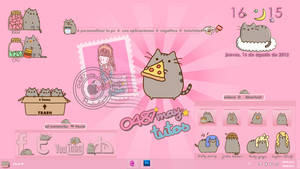 Pusheen cat, theme for Xwidget by may0487