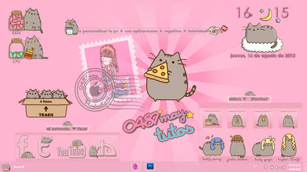 Pusheen cat, theme for Xwidget