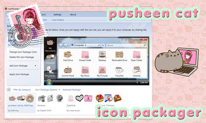 Tema de Pusheen Cat, IconPackager