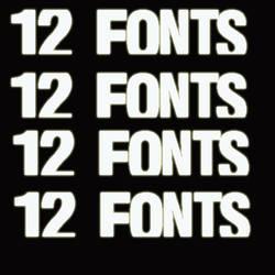 12 Fonts