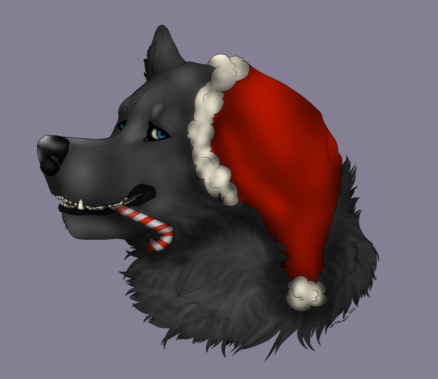Christmas Wolf.Free Christmas Wolf Headshot Lines Psd By Salt Dog On Deviantart