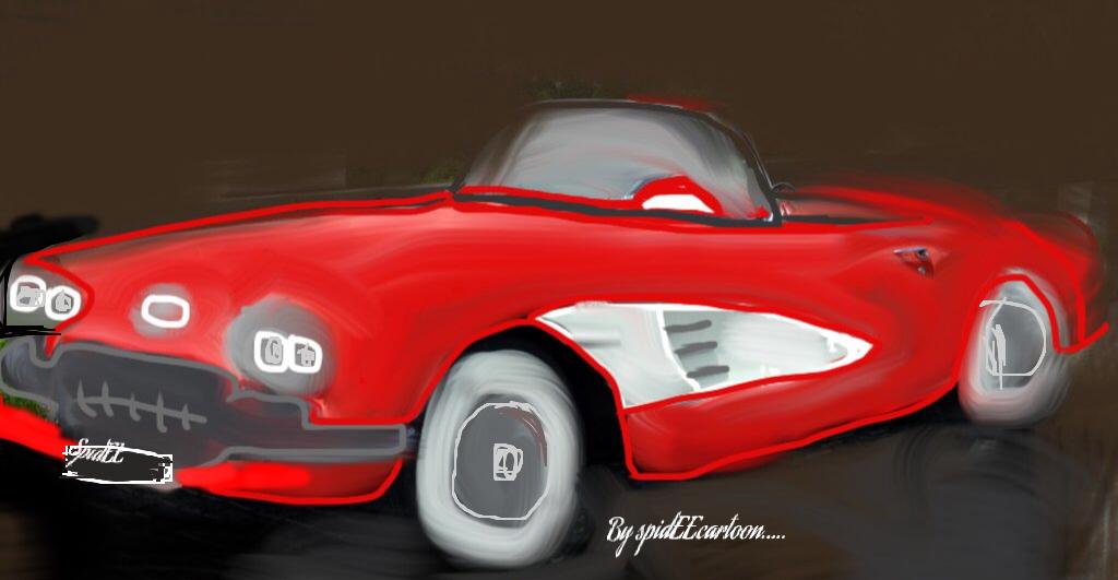 1958 vette by Spideecartoon
