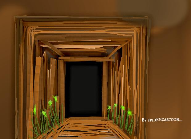 Garden pathway by Spideecartoon