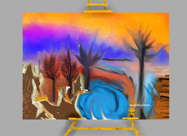 Gleaming trees by Spideecartoon