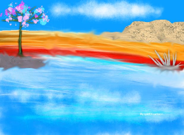 Island by Spideecartoon