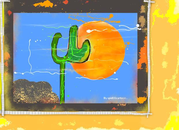 Tall cactus by Spideecartoon