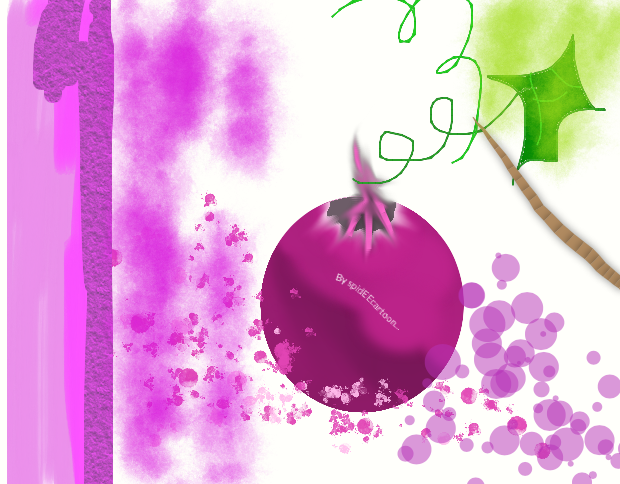 Grape by Spideecartoon