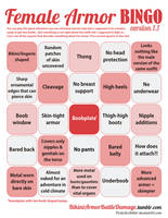 Female Armor BINGO ver. 1.1 (dowloadable PDF)