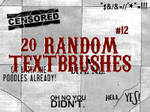 Random Textbrushes number 12