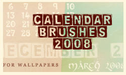 2008 Calendar brushes