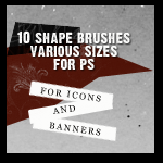 Shape Brushes for Photoshop by mata80