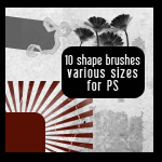 Shape Brushes for Photoshop II by mata80