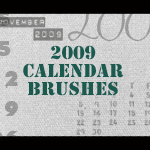 2009 Calendar Brushes by mata80