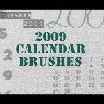 2009 Calendar Brushes