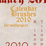 2010 Calendar Brushes by mata80