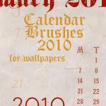 2010 Calendar Brushes