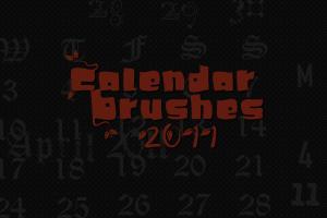 2011 Calendar Brushes