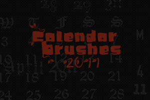 2011 Calendar Brushes by mata80