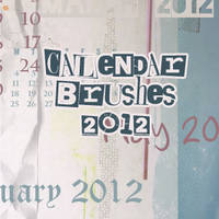 2012 Calendar Brushes