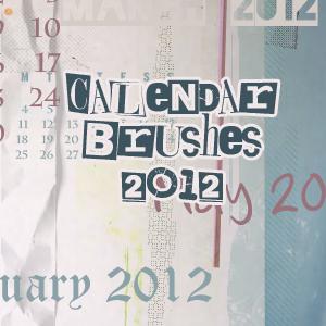 2012 Calendar Brushes by mata80