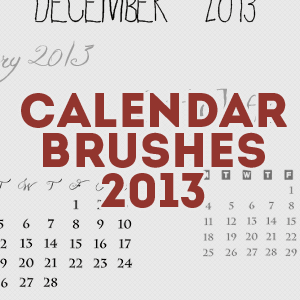 2013 Calendar Brushes by mata80