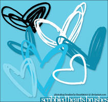 Scribbled Heart Brushes - PS by allisonwashko